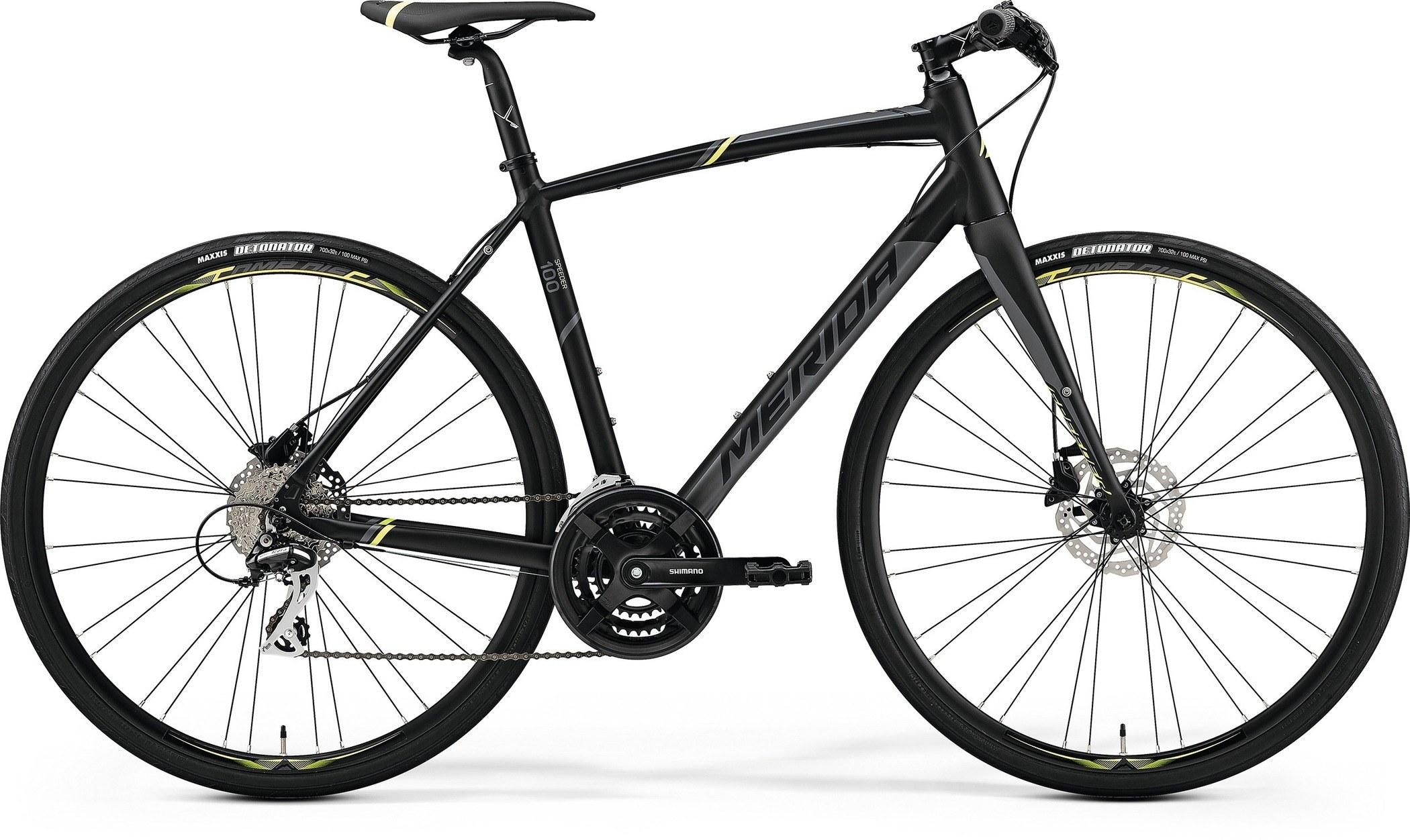 632ef4fdced 2019 Merida Speeder 100 Hybrid Bike Matt Black/Yellow/Grey £599.99